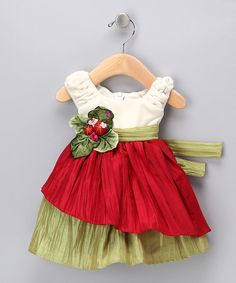 Cream & Red Velvet Dress - Infant, Toddler & Girls - would make a cute Christmas dress! Fashion Kids, Costume Carnaval, Red Velvet Dress, Little Girl Dresses, Cute Dresses, Baby Dresses, Girls Dresses Sewing, Doll Clothes, Ideias Fashion