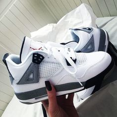 Nike Air Jordan 4 Retro OG 'White Cement' 2016 - - Shop Air Jordan 4 Retro OG 'White Cement' 2016 - Air Jordan on GOAT. We guarantee authenticity on every sneaker purchase or your money back. Cute Nike Shoes, Cute Sneakers, Nike Air Shoes, Nike Air Jordans, Shoes Sneakers, Retro Jordans, Shoes Jordans, Jordans Girls, Cute Jordans