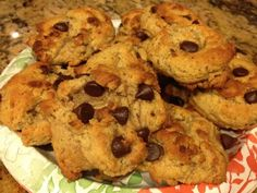Low Carb Low Sugar High Protein Chocolate Chip Cookies! Yum!