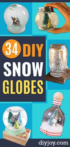 34 DIY Snow Globes to Make This Winter - The Effective Pictures We Offer You About DIY Fairy Garden steps A quality picture can tell you many things. Diy Snow Globe, Christmas Snow Globes, Christmas Jars, Christmas Crafts, Christmas Ideas, Diy Holiday Gifts, Funny Christmas Gifts, Christmas Humor, Christmas Stuff