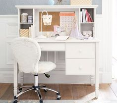 Discover Pottery Barn Kids' study furniture perfect for activities, play, and homework. Find study tables for kids in many styles and colors. Desk For Girls Room, Girl Desk, Computer Desk With Hutch, Desk Hutch, Cubby Storage, Kids Storage, Desk With Storage, Baby Furniture, Upholstered Furniture