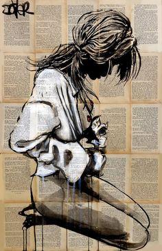 "Saatchi Art Artist Loui Jover; Drawing, ""the white shirt"" #art"