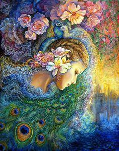 Peacock Daze by Josephine Wall