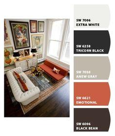 Classic orange and neutrals color scheme