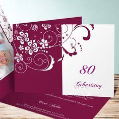Einladungskarten 70. Geburtstag   Selbst Gestalten   Einladungen   Pinterest