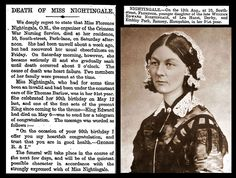 13th August 1910 - Death of Florence Nightingale