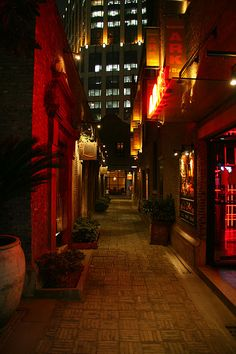 narrow street in the night - Xintiandi area, Shanghai