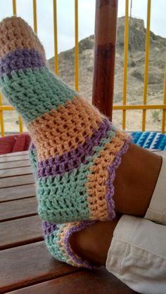 Calcetas cortas a crochet