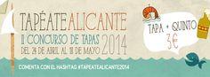 Vuelve Tapéate Alicante 2014. ¡Cómete Alicante por las tapas!