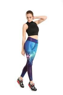 2016新款星空枫叶塑身 显瘦运动跑步透气吸汗九分瑜伽裤yoga-0013