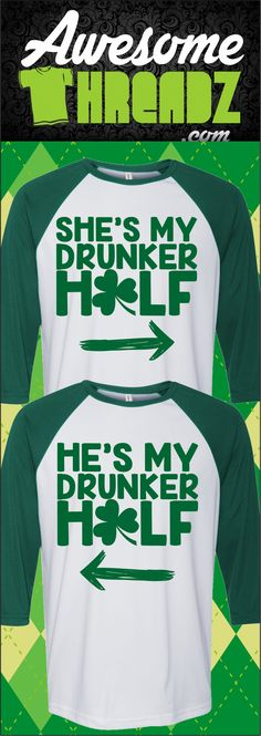 ae12e7c42 Check Out These St. Patrick's Day Couple Shirts At Awesome Threadz  #stpatricksdaycostume St Patricks