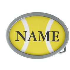 Tennis ball belt buckle - gift for tennis players