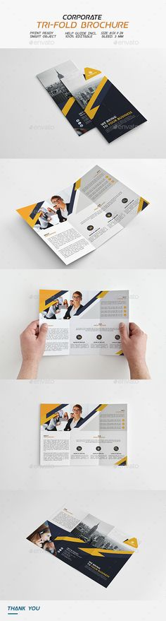 Corporate Trifold Brochure  — PSD Template • Only available here ➝…