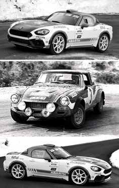 What a difference 42 years makes Alternating views of Fiat-Abarth 124 Spider Rally, 1975 and Fiat-Abarth 124 Spider Rally, 2017. Three private crews will be competing with 124 Spider Rallys in the first round of the 2017 Rally World Championship, starting with the Monte Carlo Rally which will be staged from January 19 to 22