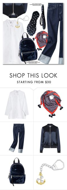 Nautical  flips flops by paculi on Polyvore featuring Samsøe & Samsøe, French Connection, Tory Burch, FlipFlops and chosechic