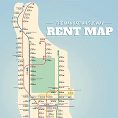 The Manhattan Subway Rent Map: Where You Can't Afford to Live, by Stop