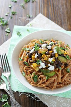 Vegetable and Black Bean Enchilada Pasta | cookiemonstercooking.com This is SUPER GOOD. I took out the goat cheese and just added more pepper jack and avocado on top...