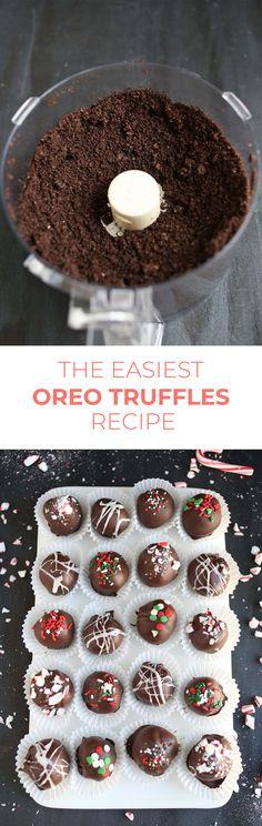 Easy chocolate (Oreo) truffles