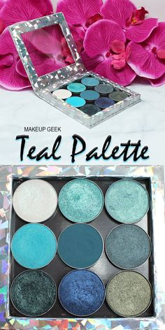 Makeup Geek Teal Palette.. it would be cool to have these in a bunch of different color schemes