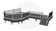 Design Ideas For Your Deck Building Design Plan, Deck Building Plans, Free Deck Plans, Outdoor Spaces, Outdoor Living, Trex Composite Decking, Deck Construction, Diy Deck, Patio Decks