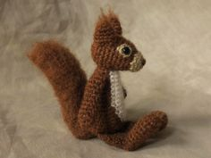 crochet squirrel pattern