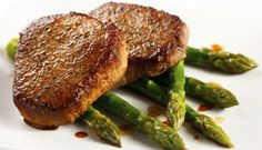 : Veal chops cooked in a white wine reduction sauce. Vegan Vegetarian, Paleo, Veal Chop, Personal Chef, Yummy Snacks, Food Preparation, Pork Recipes, Salmon Burgers, Dairy Free