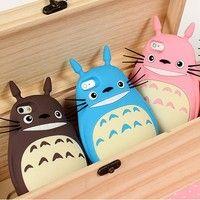 Wish   3D Cute Totoro Cartoon Smart Phone Case For 4S /5S/ I6 4.7 /I6S 4.7/ I6 Plus 5.5/ I6S Plus 5.5 TPU Cell Phone Silicone Case