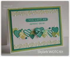 My Scrap Happy Life: Skylark Valentines Day Card with a different twist~ #ctmh #skylark