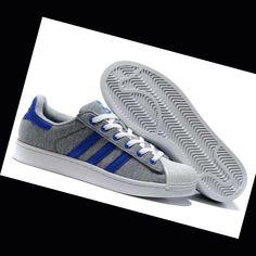 e43a461d4 original Adidas Superstar 2 Zapatos de Tenis para hombre Gris Azul Real  dvJ51 Espa a Venta Online