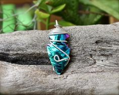 Rainbow Arrowhead Necklace  Hippie Jewelry  by MermaidTearsDesigns