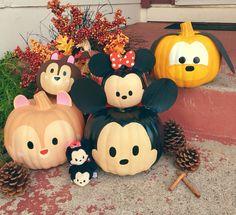 My tsum tsum painted babies! Mickey, Minnie, Pluto, Chip n Dale pumpkins pumpkin painting Halloween Yard Decorations, Halloween Pumpkins, Fall Halloween, Halloween Crafts, Holiday Crafts, Scary Halloween, Halloween Ideas, Holiday Decor, Minnie Mouse Pumpkin