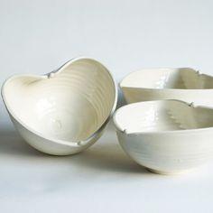 Heart Bowls ~ via Frances Palmer Pottery