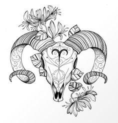 Aries the Ram - Tattoo Pins Tattoo Crane, 16 Tattoo, Tattoo Drawings, Body Art Tattoos, New Tattoos, Tatoos, Shape Tattoo, Tattoo Art, Aries Zodiac Tattoos