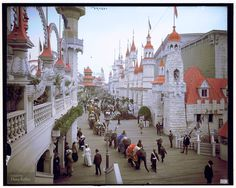 """Picture of the Day: Coney Island in Color, circa 1905"".  In this fantastic image colorized by Dana Keller, we see the Luna Park Promenade at Coney Island, New York, taken some time between 1903 and 1910."