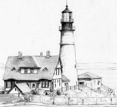 Lighthouse and House by Joilieder.deviantart.com on @DeviantArt