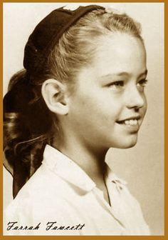 A young Farrah Fawcett