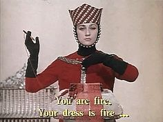 """cyber-ia: """"""""You are fire. Your dress is fire… You are fire. Your dress is black…"""" Sergei Parajanov. The Color of Pomegranates. oh i love you man. """""""