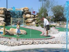 Bring the Family for a round of Mini-golf! Who can get a  hole in one?