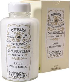 Another treat from my sister's travels -- Santa Maria Novella - Body Milk for Women