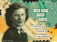 Mail art by Miss Iowa of ATC's For All.