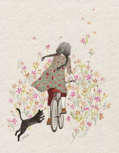 70 Trendy Ideas for children illustration cat paintings Art And Illustration, Illustration Children, Animal Illustrations, Illustrations Posters, Japanese Embroidery, Whimsical Art, Cat Art, Cute Drawings, Art Girl