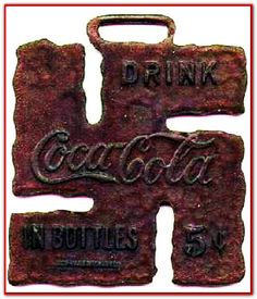 1936 and Coca Cola, sponsor of Olympic games in Berlin, Nazi Germany