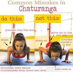#Yoga #Chaturanga do's and don'ts