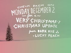 Can you imagine how insanely Christmasy Sweden must be in the depths of December?? Soon, Lucky Peach + Dark Rye will leave nothing to the imagination.