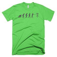 Disc Golf Evolution Of Man - Funny Disc Golf T Shirt