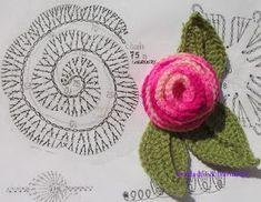 Col Crochet, Freeform Crochet, Crochet Diagram, Crochet Art, Irish Crochet, Crochet Motif, Crochet Crafts, Crochet Stitches, Crochet Projects