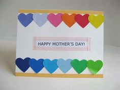 Mother's Day Crafts: Washi Tape Hearts Mother's Day Cards to Make with Kids