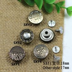 Click Our Letters Rivets Gallery to See More Style and Color . Sxy Jeans, Metal Buttons, Vintage Buttons, Jeans Button, That One Friend, Make Color, Shake, Giant Tree, Models