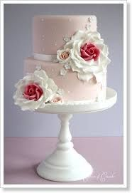 GOOGLE -Резултат с изображение за two tier cakes with pink flowers