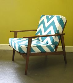Mid Century Walnut Lounge Chair by RewindHomeInteriors on Etsy, $395.00